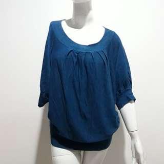 Bigsize blouse rajutblue