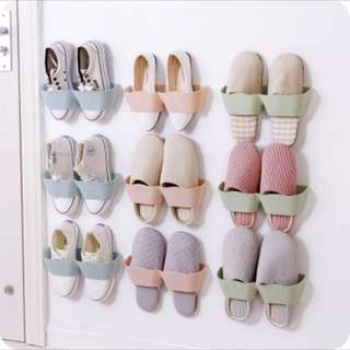 Light pink slippers/shoe holder
