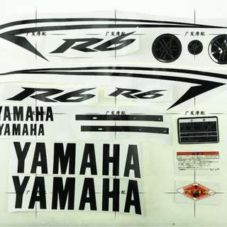 Yamaha R6 gold black silver red blue sticker fairings coverset cover tank