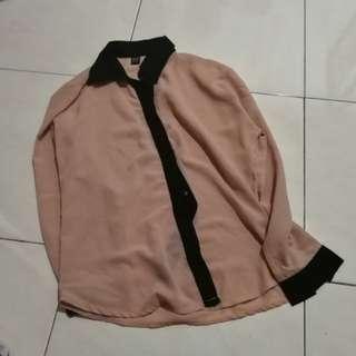 blush pink shirt