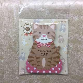 包郵 貓肉球 貓咪 喵星人 便條紙 便條貼 便條簿 Cat Kitten Memo Pad Note Pad🐱