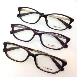 COACH  简约大方配光镜,高鼻托专为亚洲人设计,秀气,修脸型