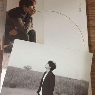 Super Junior圭賢solo3輯我在等你連橫版postcard