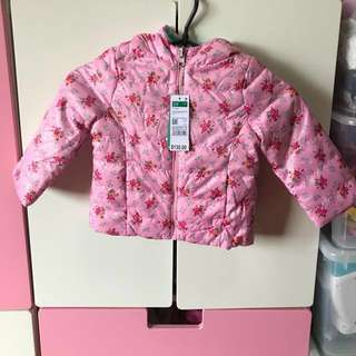 BNWT Reversible Padded Winter Jacket for Toddler Girls (90 cm) 2 to 3 years old