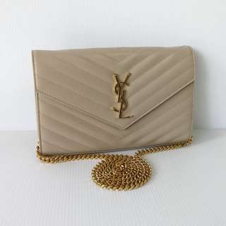 Authentic Saint Laurent Monogram Clutch