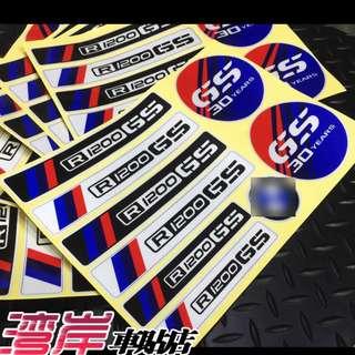 BMW R1200GS R1200GSA adventure waterproof anniversary box fairings coverset stickers