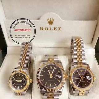 COUPLE WATCH with : Box,manual,paperbag,tag,japan movement