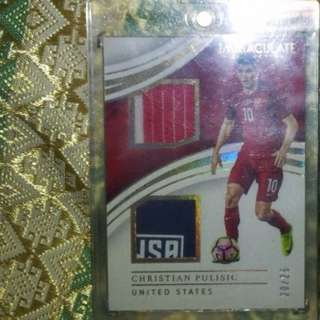 CHRISTIAN PULISIC IMMACULATE BRACE MATERIALS SICK PATCH