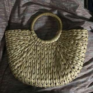 *Premium* BN Je T'Aime Rattan Basket Bag (Normal mail +$2.55, Registered Mail +$4.50, Self-Collection at Telok Blangah station ONLY at $36)