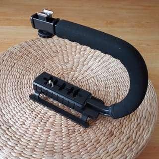 Dslr video Camera led mic C bracket holder