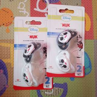 NUK 2x Pacifiers : Sleep Time Soother (6-18m)