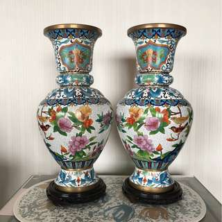 景泰蓝工艺品纯手工铜花瓶 (Cloisonné Enamel Art Vase)
