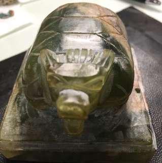 Jade seal - dragon head tortoise turtle shell