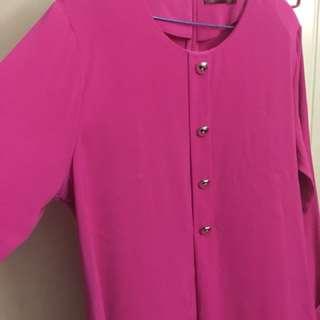 Blouse size46 in fuschia pink