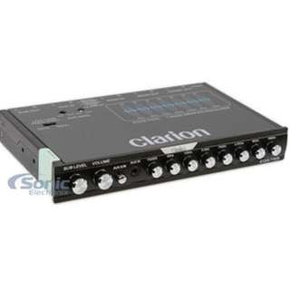Clarion EQS755 - Car Equalizer  7-Band Graphic Equalizer with Front 3.5mm Auxiliary Input, Rear RCA Auxiliary Input and High Level Speaker Inputs