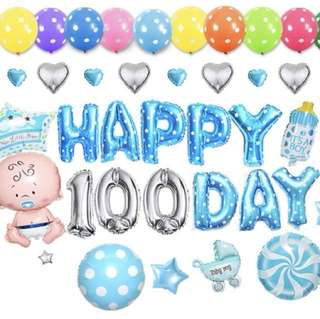 Baby Shower 100th day Balloon set