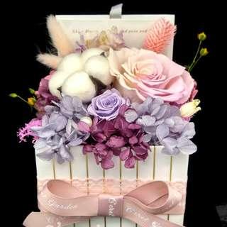 保鮮花 花盒 preserved flower 真花 情人節禮物 不凋花 永生花