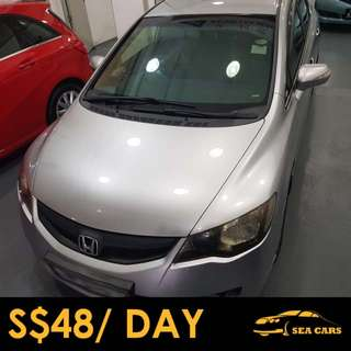 Car Rental for Grab/Uber/Personal Use - HONDA CIVIC 2.0