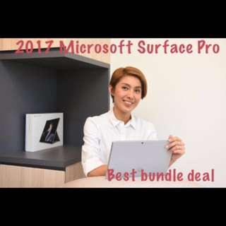 Surface Pro 5, i5/8GB/256GB bundle with Alcantara Cover