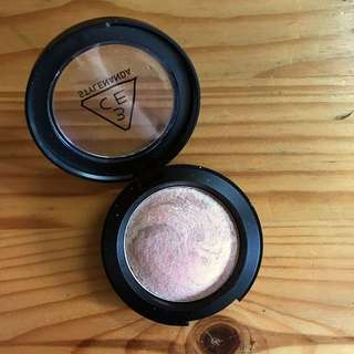 3CE Marble Highlighter in #BLINGPEACH