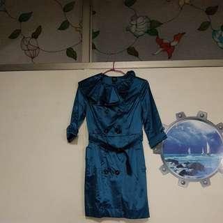 🚚 IROO設計款風衣洋裝