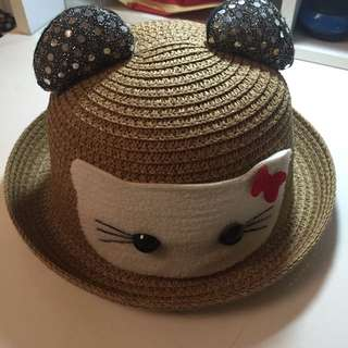 Hello Kitty Straw Hat