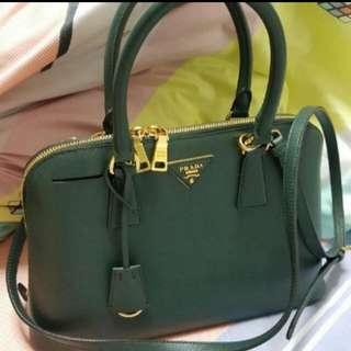 Authentic Prada Saffiano Lux Smeraldo Bag