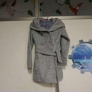 🚚 韓版設計款重磅毛料大衣