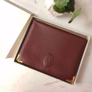Cartier Vintage 酒紅色 Clutch Bag