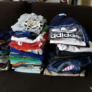 Preloved clothes for boys from 4 to 7yrs