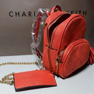 Charles & Keith backpack sling