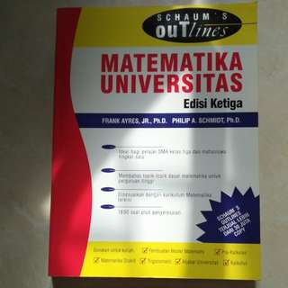 Schaum's Outlines Matematika Universitas Edisi 3