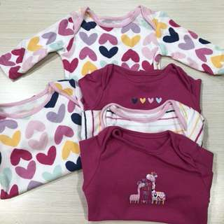 Mothercare Long Sleeve Onesies