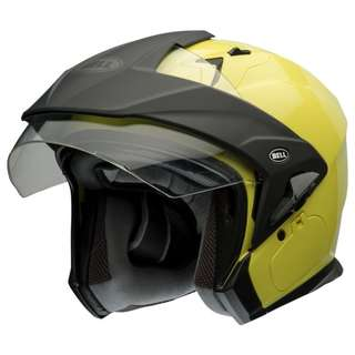 Bell Mag 9 Mag-9 SIZE MEDIUM AND LARGE ONLY Yellow Hi Viz High Vis Visibility Motorcycle Motorbike Open Face Half Face Helmet