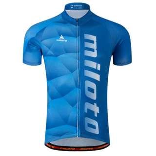 Light blue cycling sports jersery | PO
