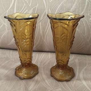 Vintage glass Flower Vase