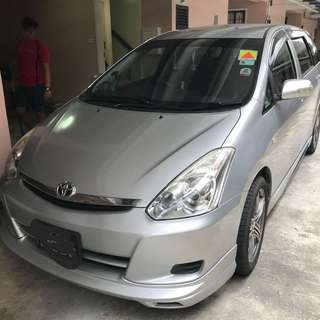 Car for rent Toyota wish