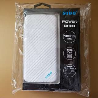 SIDO 10000mAh power bank 外置充電寶