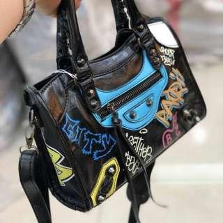 NEW!!!! Balenciaga gafitty hand bag tas import wanita