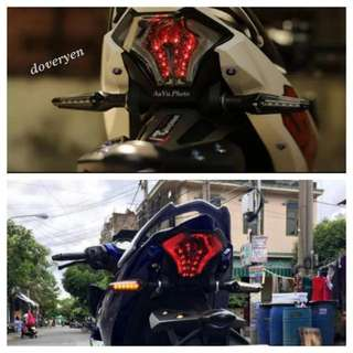 Motorcycle Dual Color Led Signal Light Indicator  ★New Design ★2 Sided Led  ★Front : Yellow ★Back :  Blue*    *Can Use It As DRL / Brake     ★Sleek Flexible & Slim Design ★Standard 10 mm Bolt ★Rain Proof  In Stock