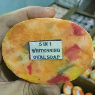 5in1 whitening oval soap