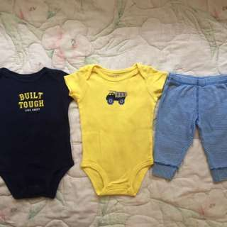 Preloved Carter's 3-pc little Character set