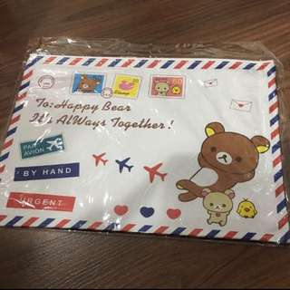 BN Rilakkuma Airmail Envelope Zipper Folder A4