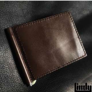 Customized bifold money clip wallet