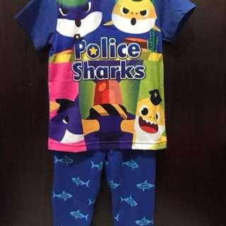 Baby police shark set (short sleeve + long pant)
