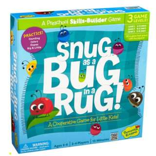 PEACEABLE KINGDOM COOPERATIVE BOARD GAMES – SNUG AS A BUG IN A RUG