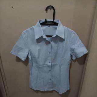 REPRICED! Light Blue Lady Office Polo