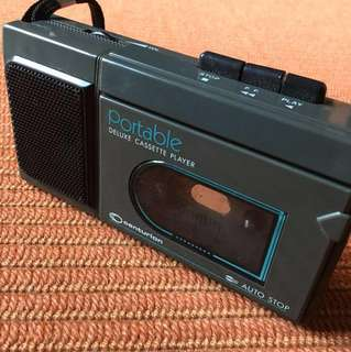 Portable Deluxe Cassette Player