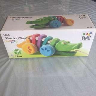BNIB Plan Toys Dancing Alligator
