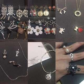 Chanel及購自日本韓國首飾飾物